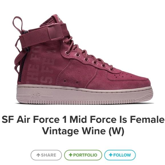 Nike SF Air Force 1 Mid Force is Female 4e27ba4b1